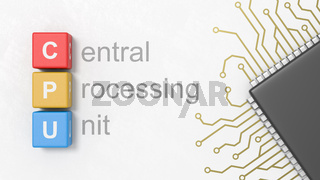Central Processing Unit, CPU Concept Illustration