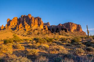 Superstition Mountains in Lost Dutchman SP, Arizona
