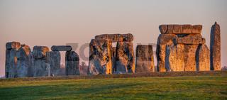 World famous rocks of Stonehenge in England