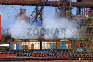 Stahlwerk in Hamburg Waltershof
