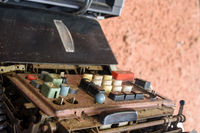 Old and damaged mechanical calculating machine