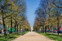 Berlin, Germany - April 9th, 2019 - castle street in Berlin Charlottenburg