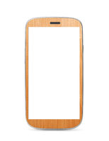 wooden touch screen mobile
