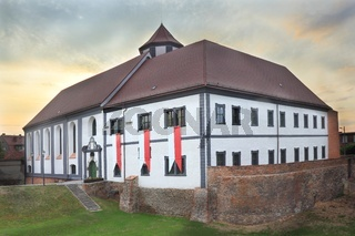 Facade of renovated fortress in Kozuchow