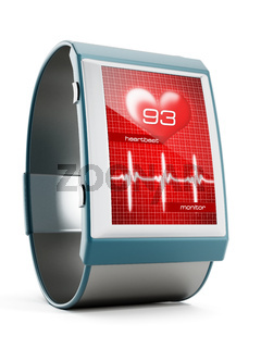 Smartwatch with heartbeat monitor