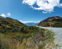 Lake Hawea and the mountains, Otago, South Island, New Zealand, Oceania.