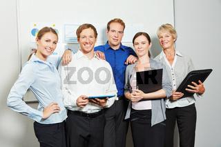 Erfolgreiche Gruppe als Business Team