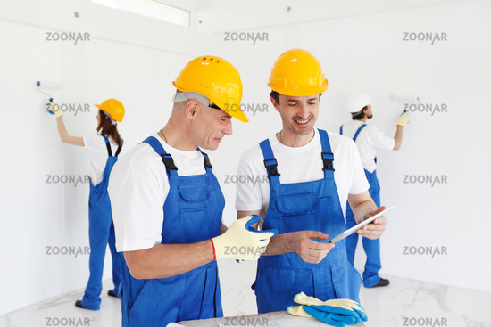 Renovation workers team