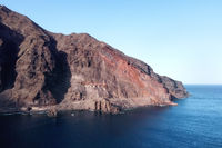 Aerial view of El hierro island, Canary Islands Spain.