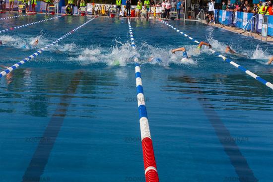 Ratingen/Germany/ North Rhine-Westphalia - September 20: 12th Stadtwerke Ratingen Triathlon a histor