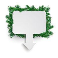 White Rectangle Arrow Marker Board Green Twigs