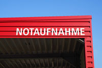 Notaufnahme translates as accident and emergency department in German