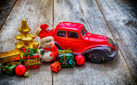 Christmas toy car