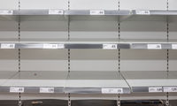 Coronavirus Empty Supermarket Shelves