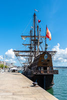 Andalucia Galleon in the port of Santander