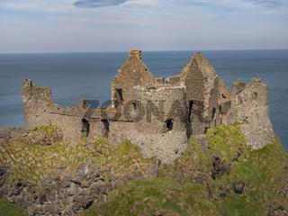 Dunluce Castle in Northern Ireland - a popular landmark in Northern Ireland