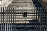 Zaun an einer Treppe