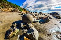 Round boulders Moeraki