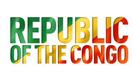 Congolese flag text font