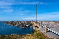 Blick auf den Ort Smögen in Schweden