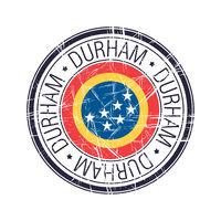 City of Durham, North Carolina vector stamp