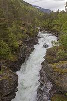 Wild river Rauma in Romsdalen