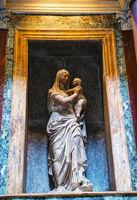 Raphael and Maria Bibbiena tomb in the Pantheon
