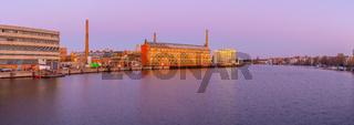 Berlin, Spree, Oberschöneweide, Panorama, Spreeknie, HTW, Industriegebäude, industrieanlagen, indust