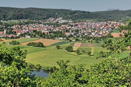Landscape on the river Neckar