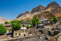 Ki village and monastery in Himalayas