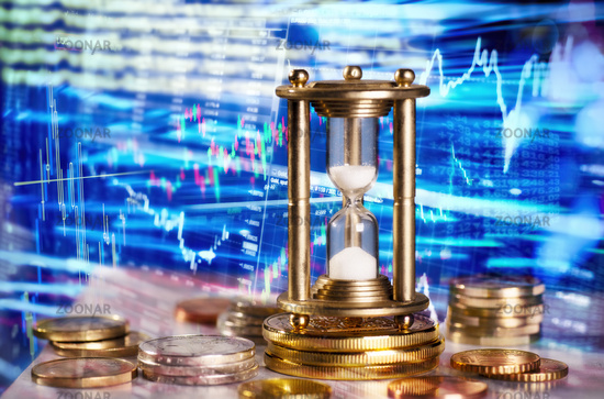 Hourglass and financial market data