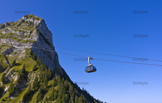 Cable car to the Moleson summit, Moleson, canton of Fribourg, Switzerland