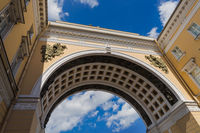 Triumphal Arch of the General Staff on Palace Square - St. Petersburg Russia