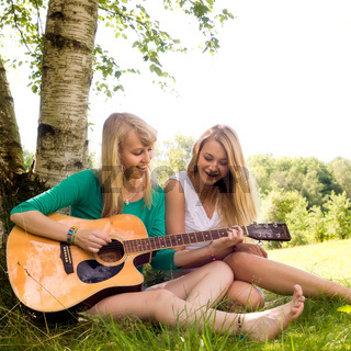 girls and the guitar