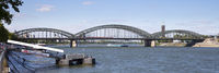 Hohenzollernbridge crossed the Rhine river at Cologne