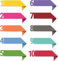 Infographics Ribbons Set Isolated White background