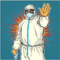 Stop doctor quarantine Novel Wuhan coronavirus 2019-nCoV epidemic outbreak