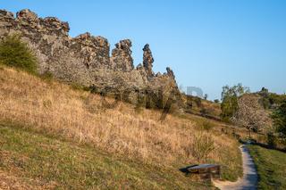 Teufelsmauer Harz Felsformationen Ausflugsziel Besuchermagnet