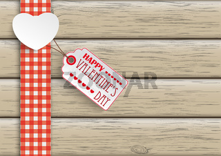 Towel Wood Hearts Price Sticker