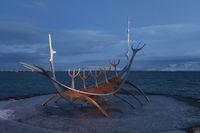Sculpture Sun Voyager, Reykjavik