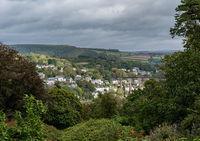 Small town of Calstock on River Tamar in Cornwall