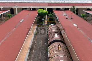 Impressions of the historic train station in Veracruz, Mexico