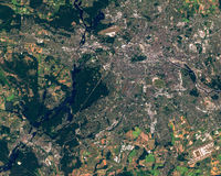 Satellite image of Berlin and Potsdam, Germany