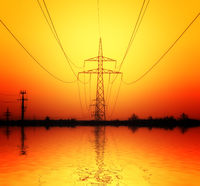Industrial high voltage electricity tower
