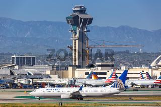 United Airlines Boeing 737-900ER Flugzeug Flughafen Los Angeles