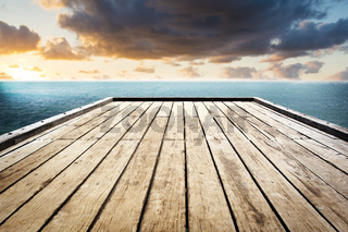 Wooden Surface Sky Background