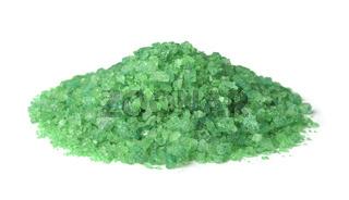 Pile of green aroma sea salt