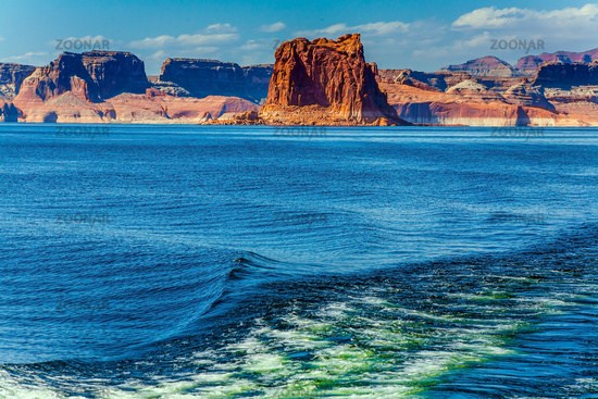 Excursion on a pleasure boat on Lake Powell