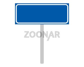 Ortsschild aus den Niederlanden auf weiss - Road sign of the Netherlands on white