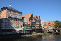 Lüneburg - Old River Ilmenau Harbour, view from the Brausebrücke, Germany